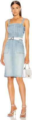 Mother Pocket Hustler Overall Dress in When In Rome | FWRD