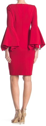 Calvin Klein Big Sleeve Sheath Dress