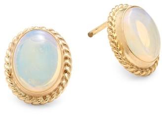 Saks Fifth Avenue Blue Opal & 14K Yellow Gold Stud Earrings