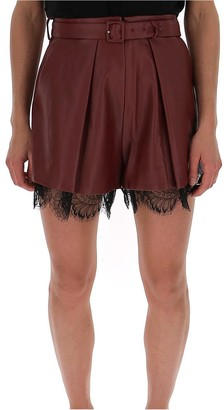 Self-Portrait Lace Trim Culotte Shorts