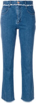See by Chloe frayed trim jeans - women - Cotton/Spandex/Elastane - 27