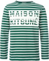 MAISON KITSUNÉ striped sweatshirt