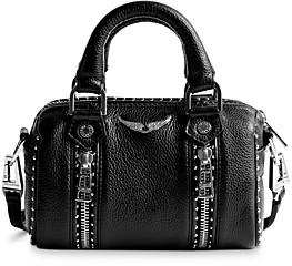 Zadig & Voltaire Sunny Nano Studded Leather Bowling Handbag