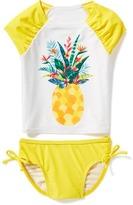 Old Navy Pineapple-Graphic Rashguard Swim Set for Toddler