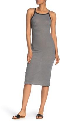 Alternative Patterned Square Neck Midi Dress