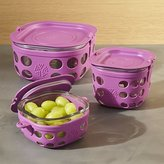 Crate & Barrel Lifefactory Huckleberry Purple Storage Containers