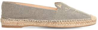 Charlotte Olympia 10MM KITTY COTTON GINGHAM ESPADRILLES