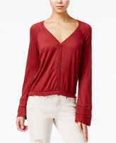 American Rag Bell-Sleeve Crochet-Trim Peasant Top, Only at Macy's