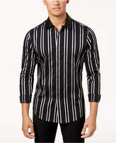 INC International Concepts Men's Vertical Striped Shirt, Created for Macy's