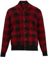 Polo Ralph Lauren Shawl-collar checked wool-blend cardigan