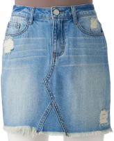 Mudd Juniors' Ripped Jean Skirt