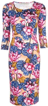 Mary Katrantzou Floral Print Square Neck Dress