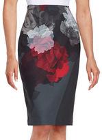 Ellen Tracy Floral Pencil Skirt