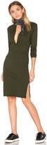 Bobi Long Sleeve Button Front Dress