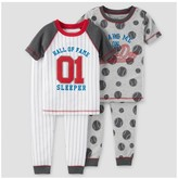 Just One You made by carter Toddler Boys' 4pc Baseball Snug Fit Cotton Pajama - Just One You Made by Carter's® Gray