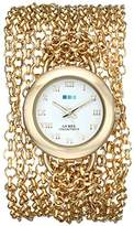 La Mer Women's LMACWSAT004 Gold-Tone Stainless Steel Watch with Wrapped Chain Bracelet