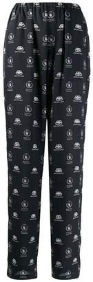 Balenciaga black and white pajama suit pants