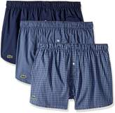 Lacoste Men's 3 Pack Gingham Woven Boxer