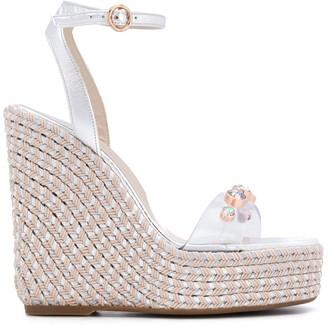 Sophia Webster Dina gem-embellished wedge sandals