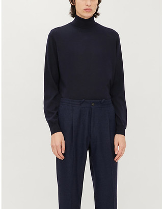 Corneliani Turtleneck merino wool jumper