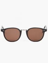 Cutler and Gross 1007 Black Matte Acetate Sunglasses