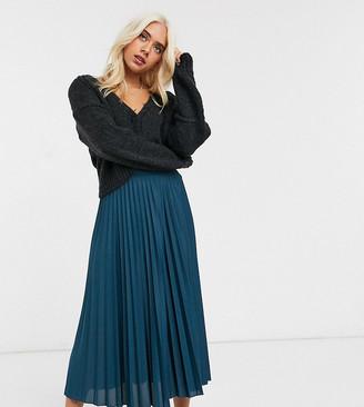 ASOS DESIGN Petite pleated midi skirt