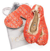 Holistic Silk Eye Mask Slipper Gift Set - Tibetan Orange (Various Sizes) - L