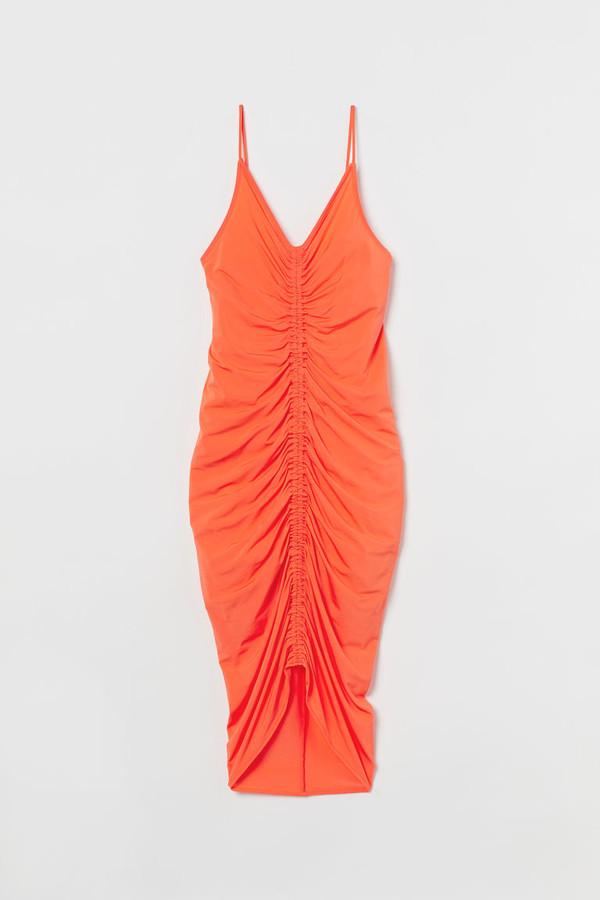 H&M Draped Dress - Orange