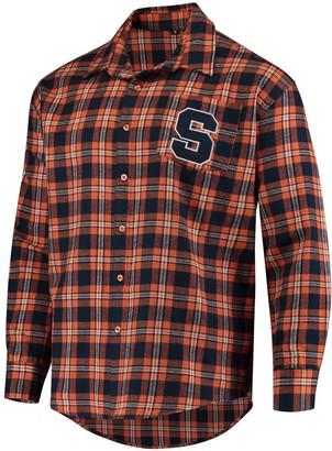 Men's Orange Syracuse Orange Wordmark Basic Flannel Button-Up Long Sleeve Shirt