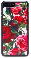 Dolce & Gabbana Rose-Print Leather iPhone 7 Case