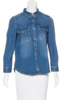 Zadig & Voltaire Long Sleeve Denim Top w/ Tags