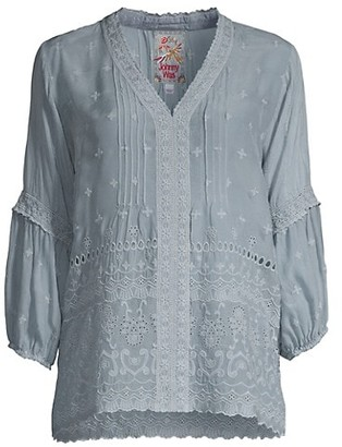 Johnny Was Tatiana Embroidered Blouse