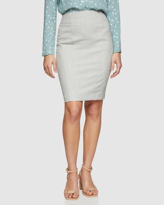 Oxford Monroe Sage Suit Skirt
