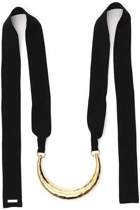 Marni Ribbon Tie Metal Choker Necklace