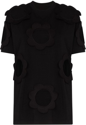 Viktor & Rolf cutout cotton-blend jersey T-shirt