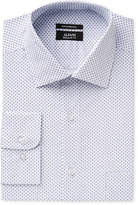Alfani Men's Classic/Regular Fit White Cross Print Dress Shirt, Only at Macy's