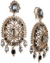 Marchesa Gold-Tone Multi-Stone Openwork Drop Earrings