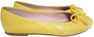 Pretty Ballerinas Yellow Leather Ballet flats
