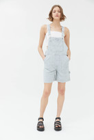 Urban Outfitters Bluff Carpenter Denim Shortall Overall - Railroad Stripe