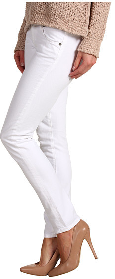 Paige Skyline Ankle Peg in Optic White