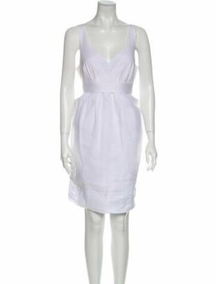 Brunello Cucinelli V-Neck Mini Dress White
