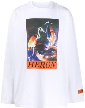 Heron Preston Long Sleeve Heron Print Jumper