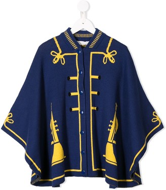 Stella McCartney buttoned cape coat
