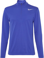 Nike Golf - Mesh-panelled Knitted Dri-fit Half-zip Top