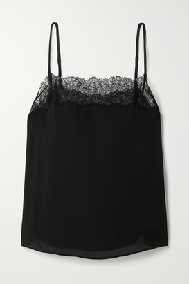 CAMI NYC The Behati Lace-trimmed Silk Crepe De Chine Camisole - Black