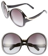Chloé Women's Mandy Oversized Oval 61Mm Sunglasses - Gradient Black