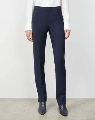 Lafayette 148 New York Plus-Size Finesse Crepe Front Zip Ankle Length Pant
