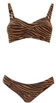 Lisa Marie Fernandez Goldwyn Zebra-print Crepe Bikini - Womens - Brown Print