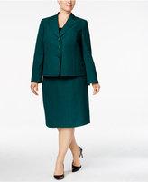 Le Suit Plus Size Three-Button Skirt Suit