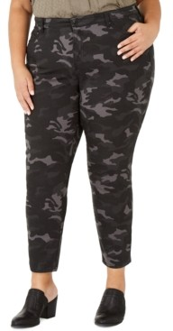 Style&Co. Style & Co Plus Size Cotton Camouflage Jeans Created for Macy's